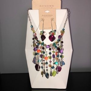 Genuine Shell Necklace and Earring Bundle NWT